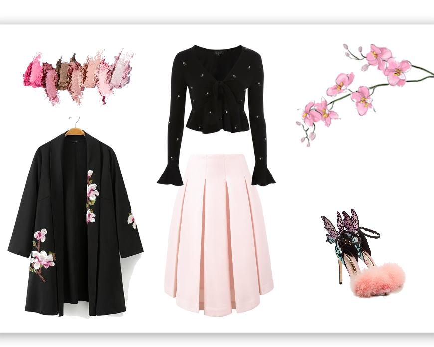 floral dress up.