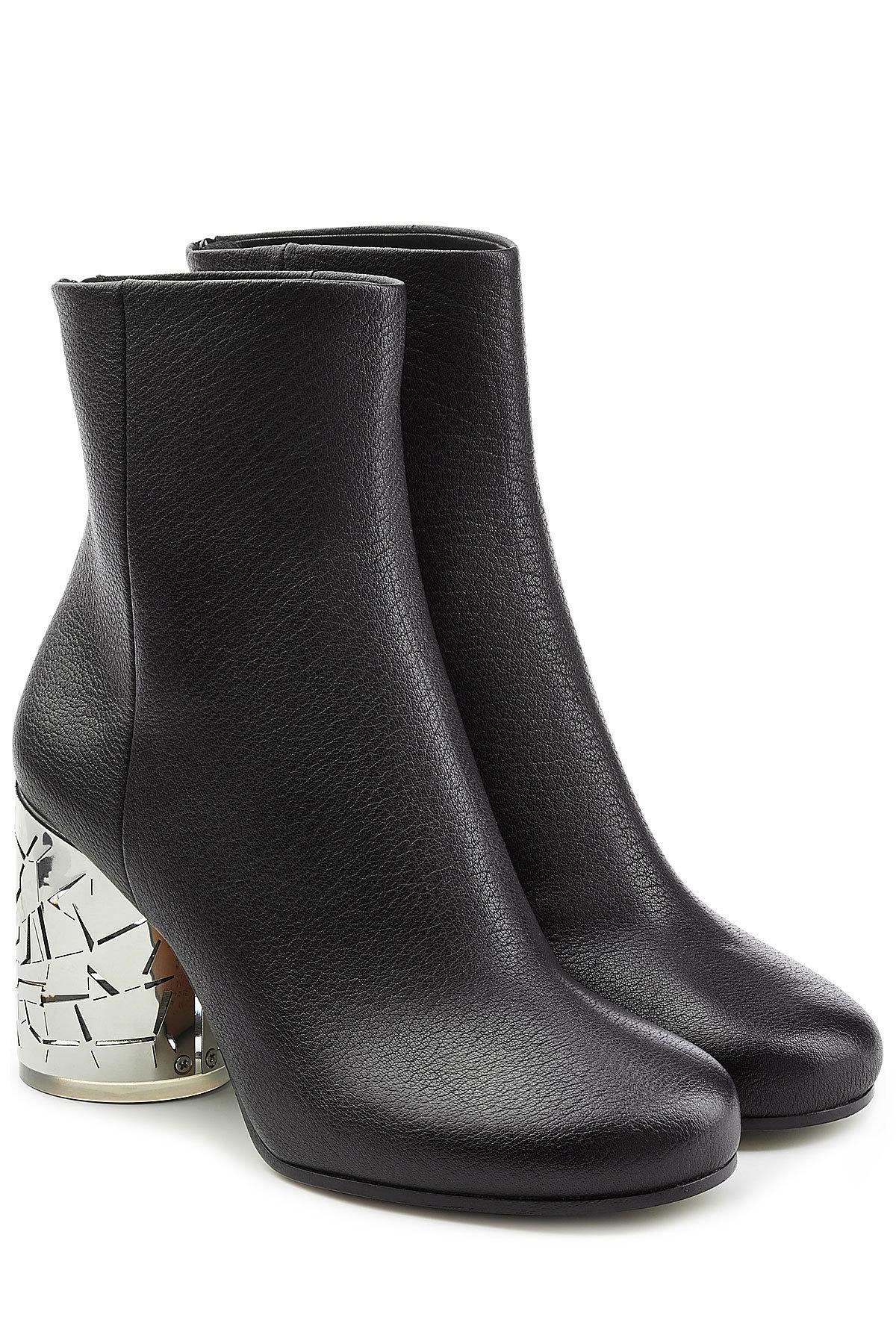 Maison Margiela Leather Ankle Boots with Statement Heel Gr. EU 36 Mv7rf