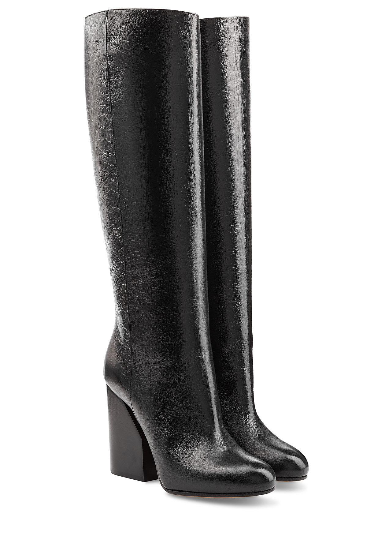 Maison Margiela Suede Knee Boots with Buttons Gr. EU 38.5 e9Siwu