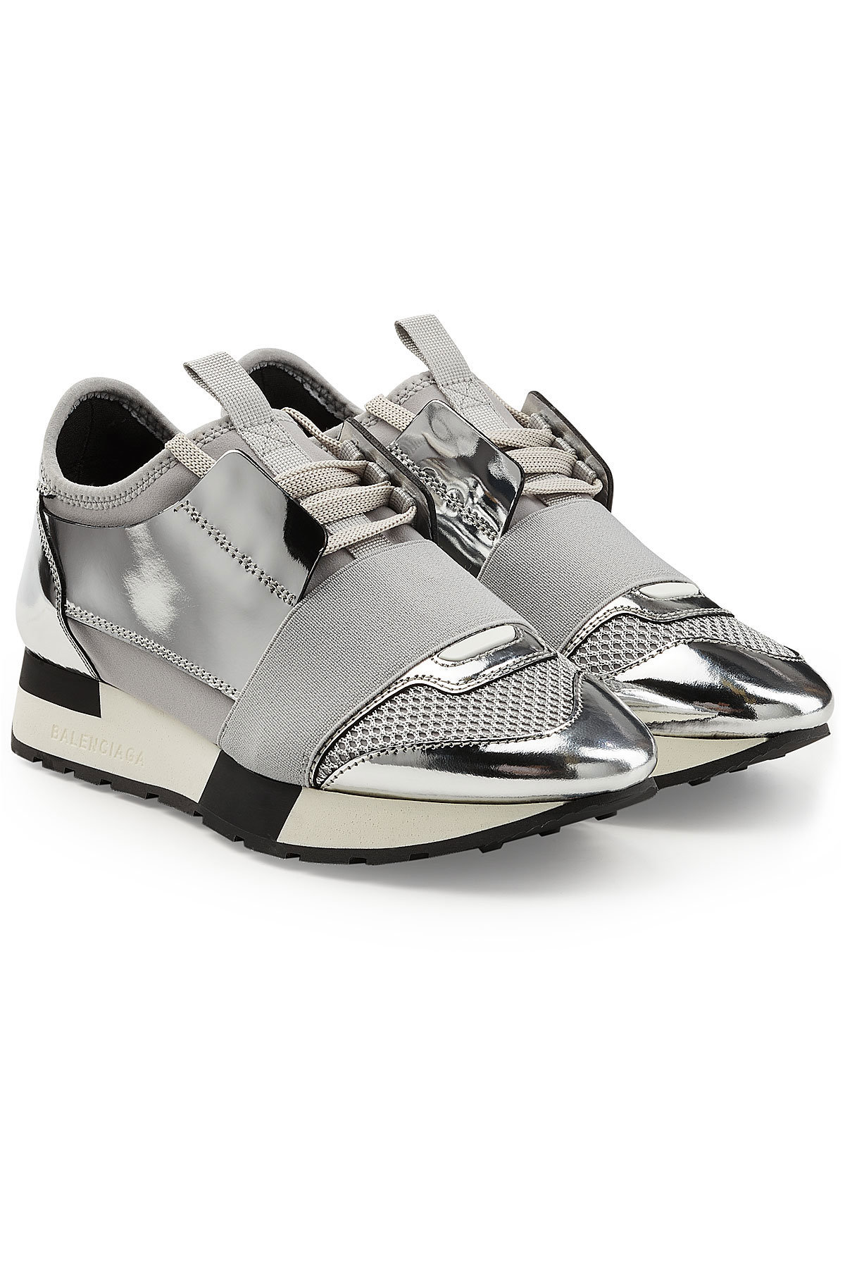 Balenciaga Race Runner Sneakers with Metallic Leather and Satin Gr. IT 36 AAiTcL3y