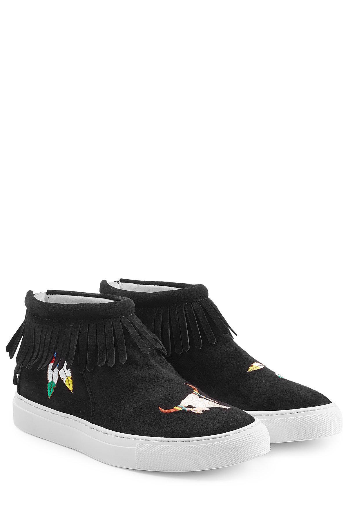 JOSHUA SANDERS Fabric Slip On Sneakers with Zippers Gr. EU 41 JsJBgW0kyi