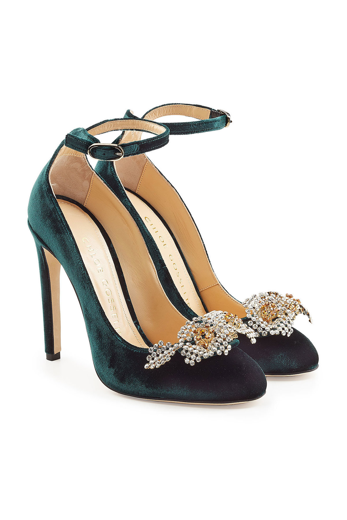 Rupert Sanderson Solita Pumps with Velvet Gr. EU 37