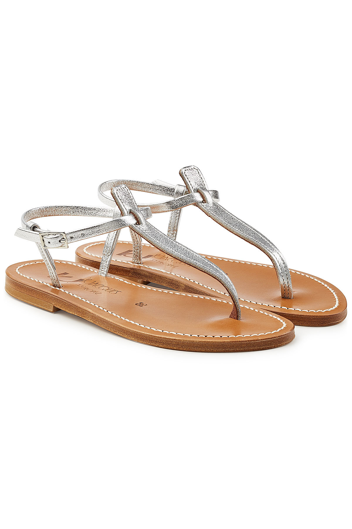 K jacques Picon Metallic Leather Sandals Gr. IT 37 AVGR0u6j5a