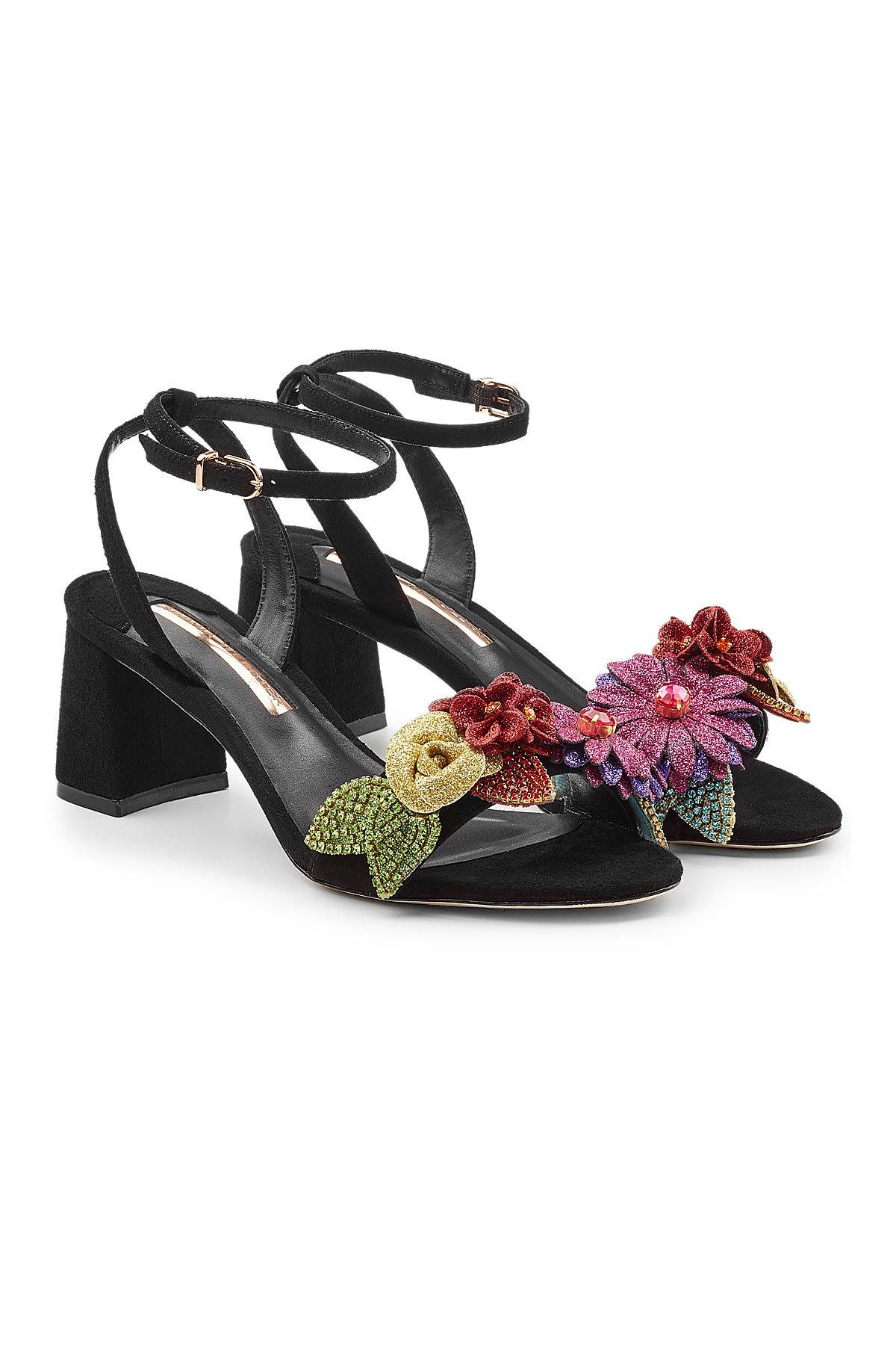 SOPHIA WEBSTER Lilico Glitter Suede Sandals Gr. EU 38