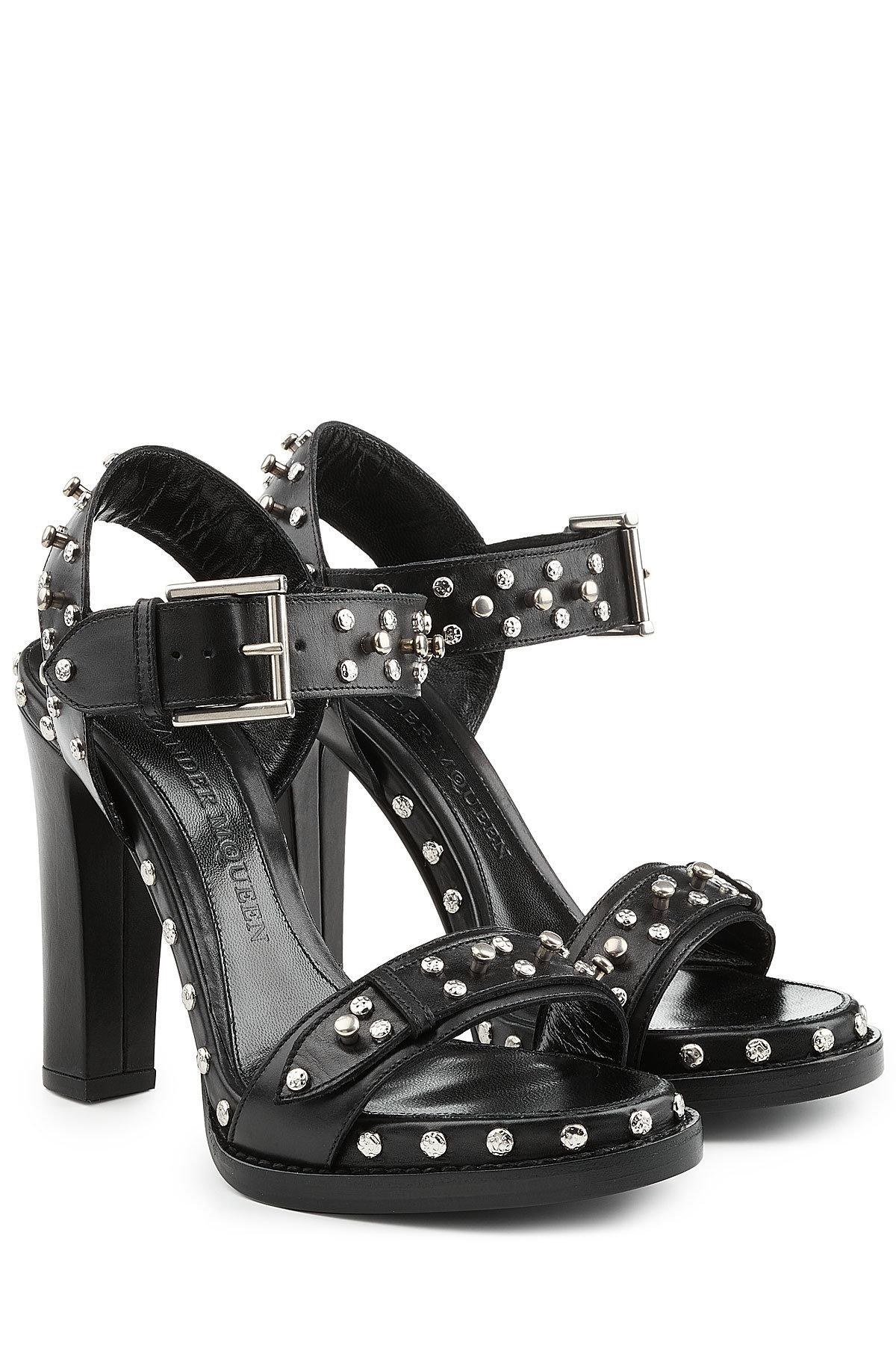 Alexander McQueen Studded Leather Sandal Heels Gr. IT 39 uS7dKV