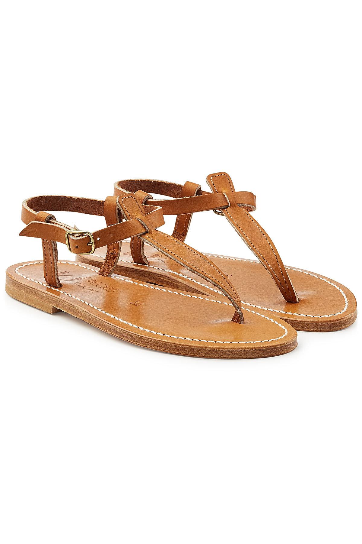 K jacques Metallic Leather Sandals Gr. IT 38 h4vVwUOZo