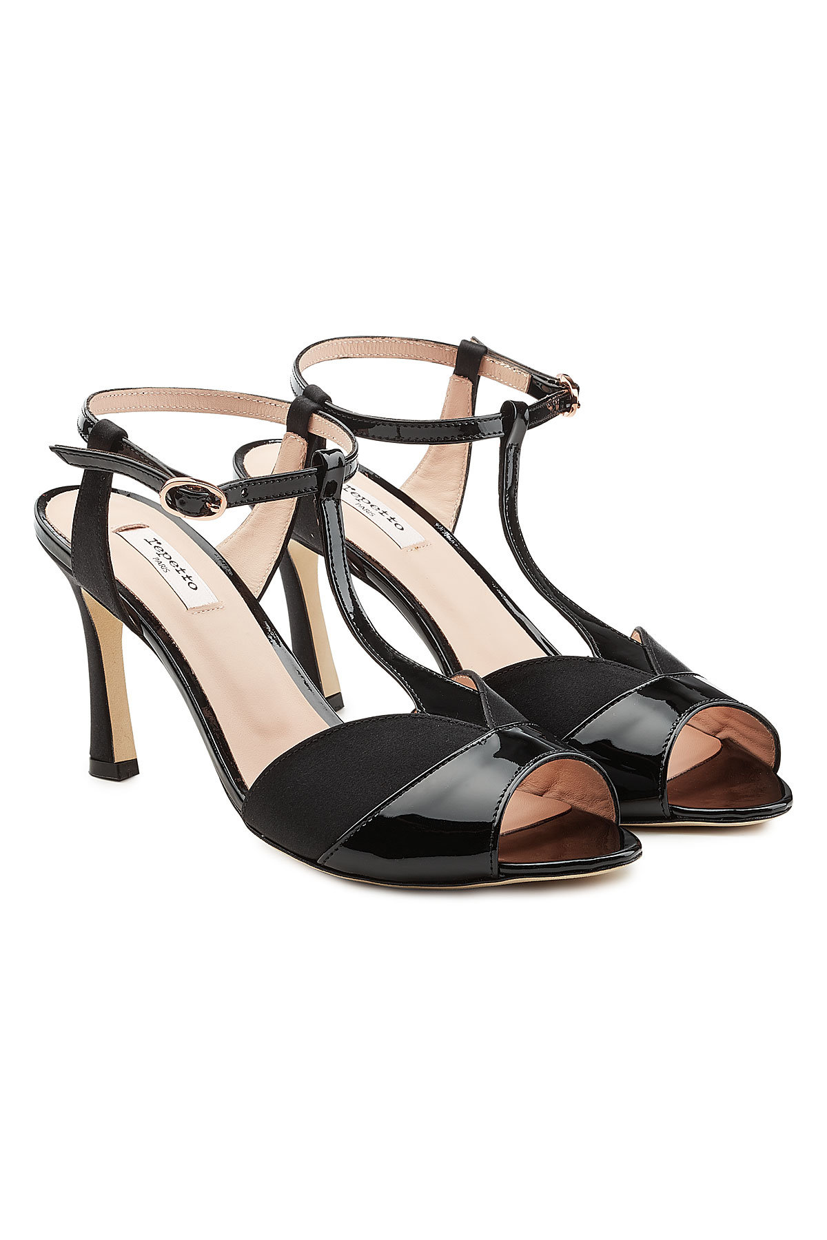 Repetto Irma Sandals in Patent Leather and Satin Gr. EU 40