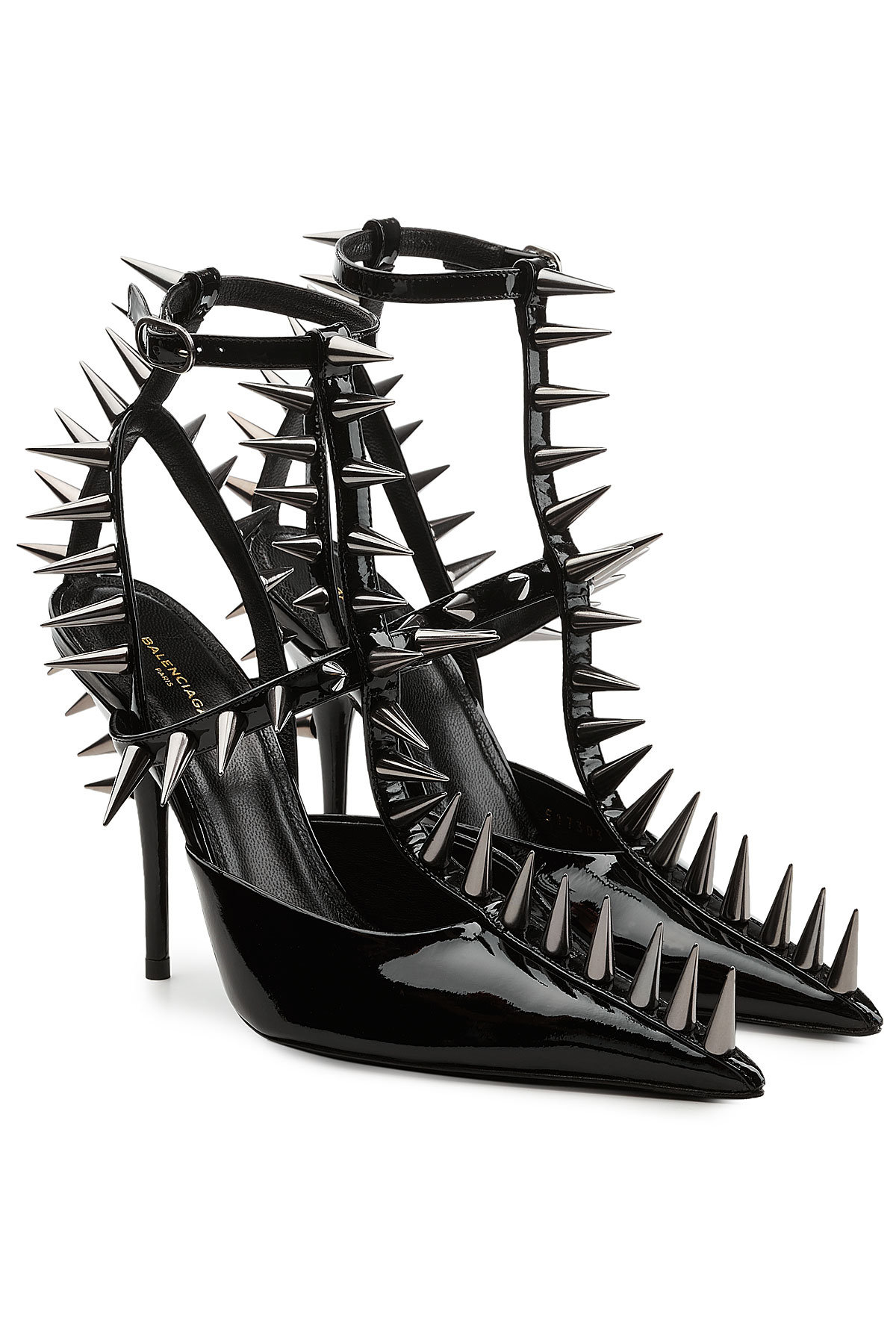 BalenciagaPatent Leather Pumps with Spike Embellishment Gr. IT 38 2yXlaNvE