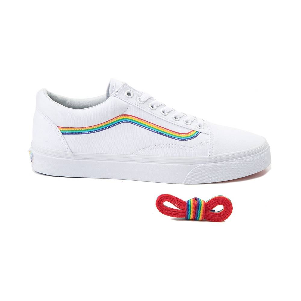 8003925126 Buy 2 OFF ANY vans old skool rainbow skate shoe white CASE AND GET 70% OFF!