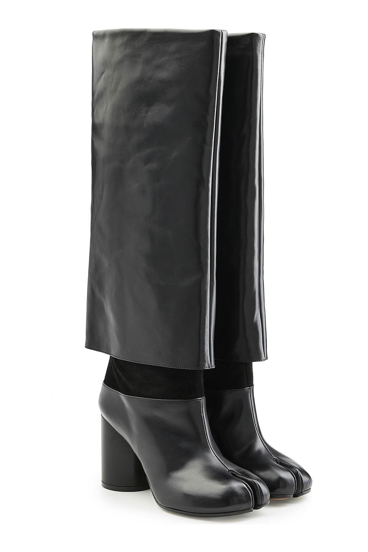 Maison Margiela Leather Knee Boots Gr. IT 39.5 2zRI1j0