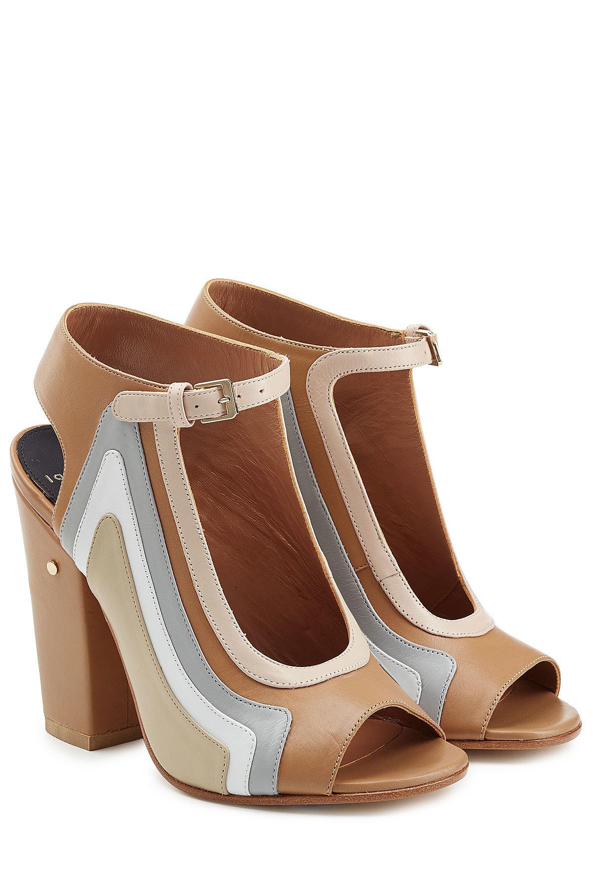 LAURENCE DACADE Keric Leather Block Heel Sandals Gr. IT 36 tunon12