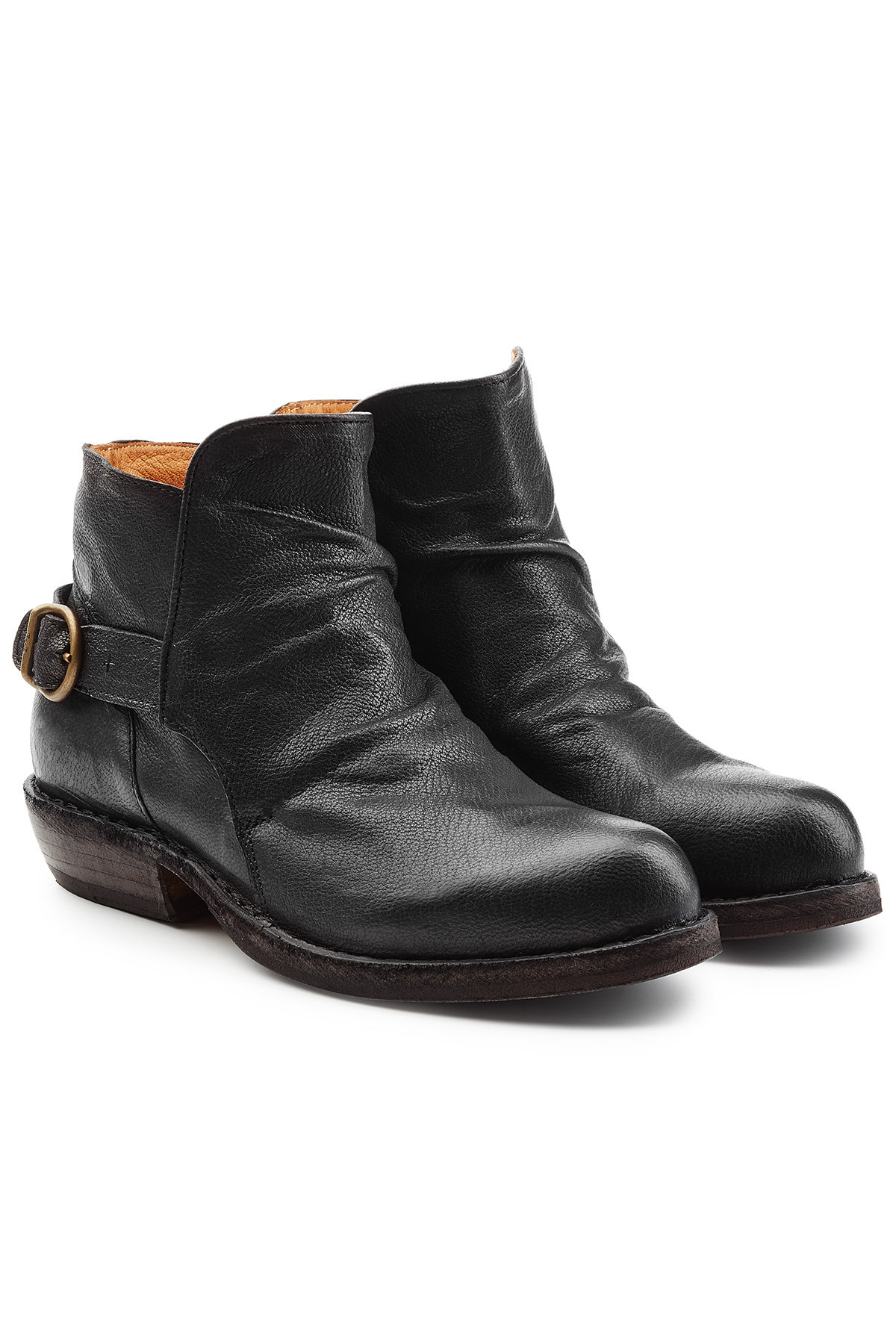 FIORENTINI + BAKER Elk Leather Boots with Lace-Up Front Gr. IT 35 05vuVHohl