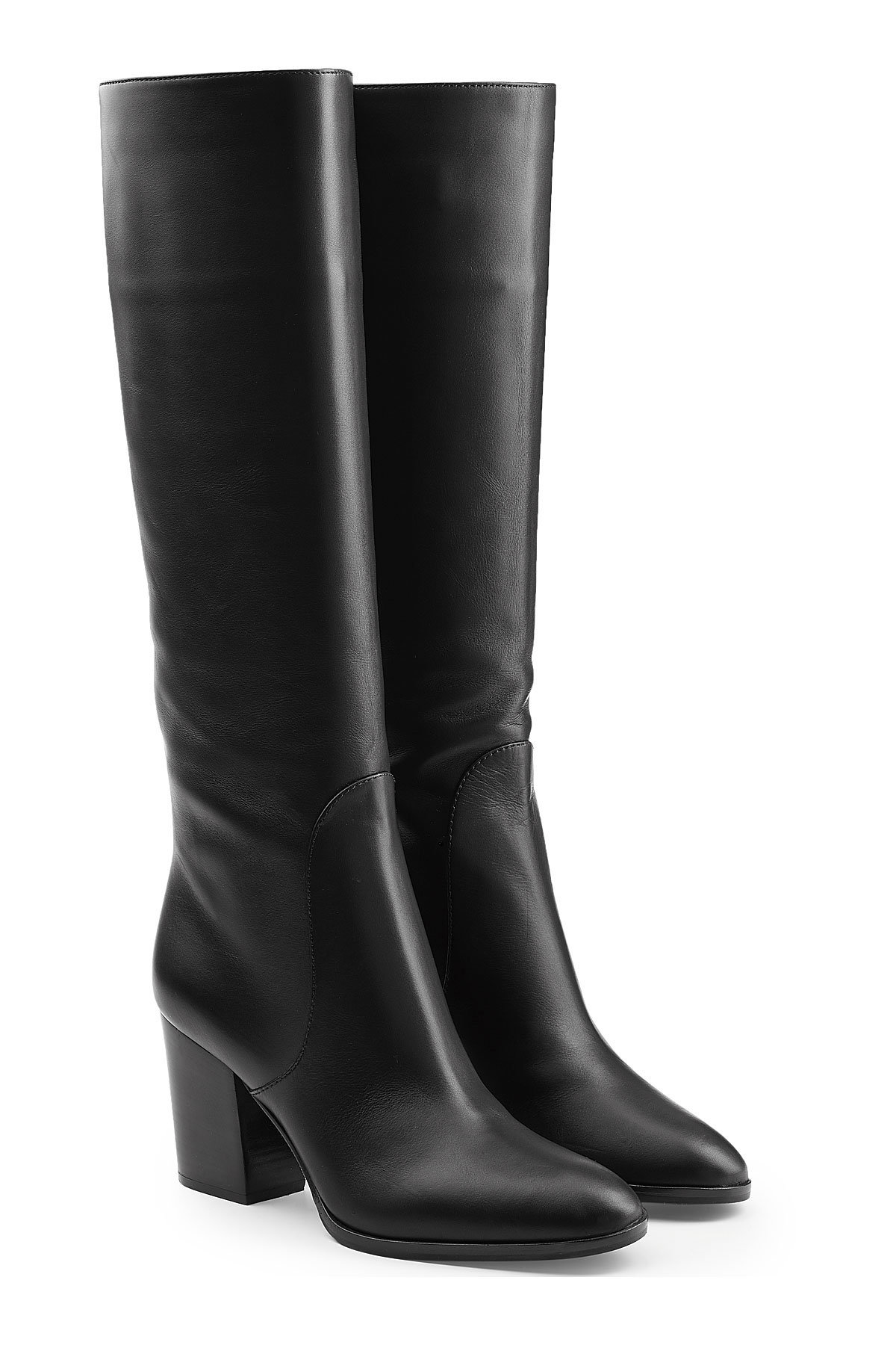 Jil Sander Leather Knee Boots Gr. IT 38 qsjPROA5t