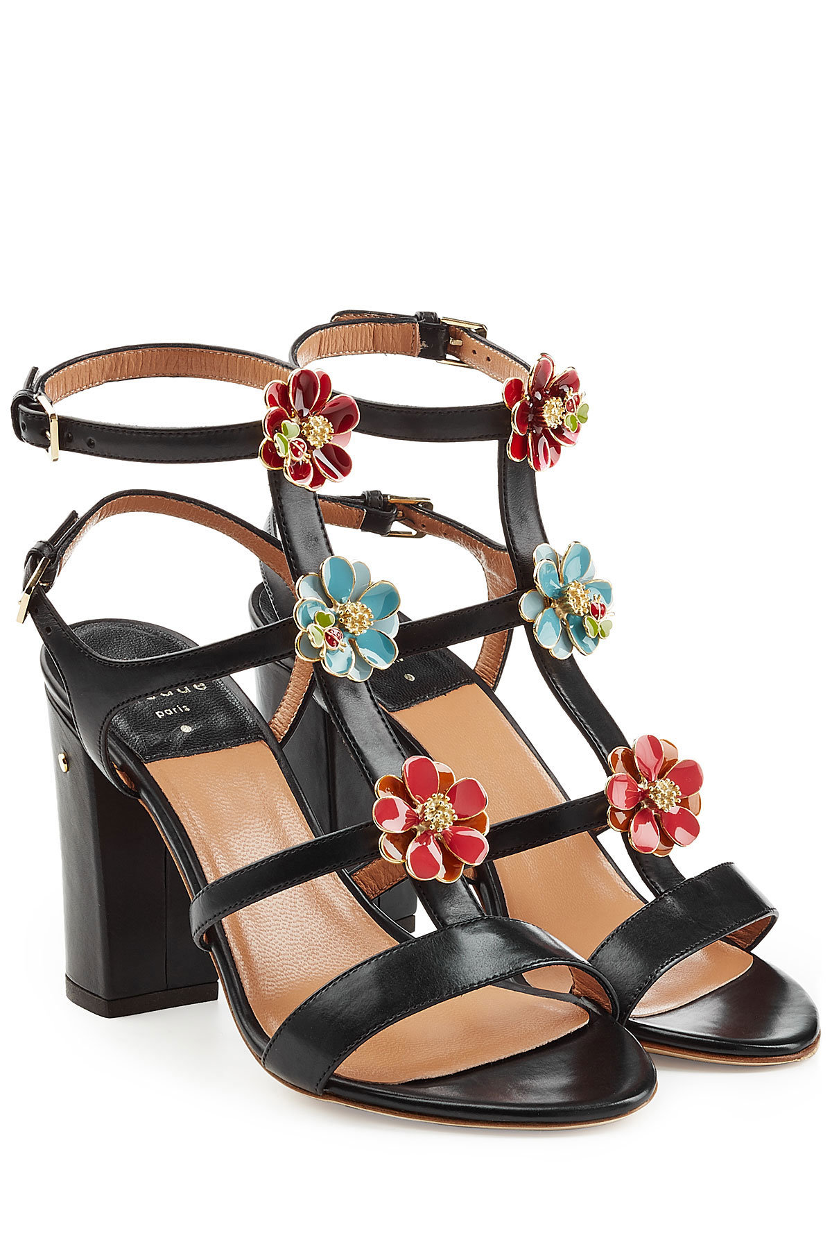 LAURENCE DACADE Leather Sandals with Buckles Gr. IT 39.5 QWbKs