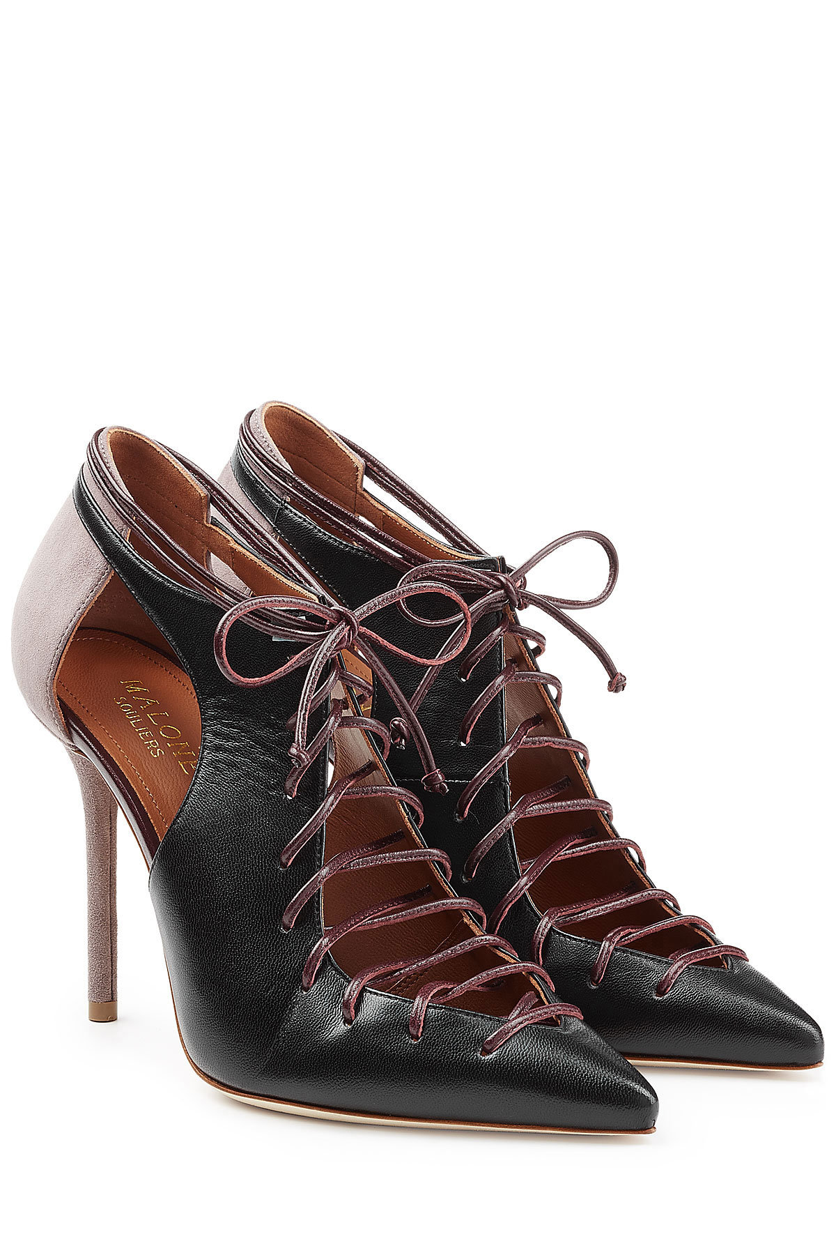 MALONE SOULIERS Suede Pumps with Lace-Up Front Gr. EU 37.5 as9a37